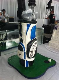 golf bag grooms cake